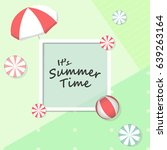 summer time vector banner... | Shutterstock .eps vector #639263164