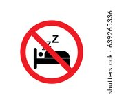 no sleeping icon illustration... | Shutterstock .eps vector #639265336