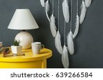 white dream catcher  yellow... | Shutterstock . vector #639266584