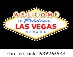 las vegas sign isolated on... | Shutterstock . vector #639266944