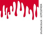 red color paint dripping blood