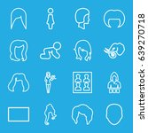 portrait icons set. set of 16... | Shutterstock .eps vector #639270718