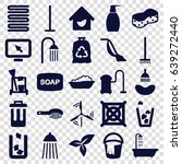 clean icons set. set of 25... | Shutterstock .eps vector #639272440