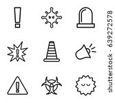 attention icons set. set of 9... | Shutterstock .eps vector #639272578