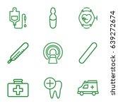 medicine icons set. set of 9... | Shutterstock .eps vector #639272674