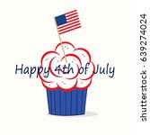 independence day cupcake  ...   Shutterstock . vector #639274024