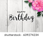 happy birthday text with bright ... | Shutterstock . vector #639274234