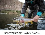 holding brown trout | Shutterstock . vector #639276280