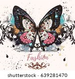 fashion illustration with... | Shutterstock .eps vector #639281470