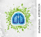 lungs and leaves illustration ... | Shutterstock . vector #639282124