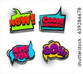 4 funny set comic book cartoon...