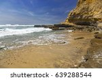 flat rock on torrey pines state ... | Shutterstock . vector #639288544
