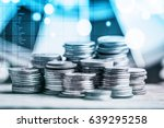 stack of coins stock financial... | Shutterstock . vector #639295258