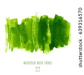 greenery vector hand paint... | Shutterstock .eps vector #639316570