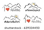 mountains silhouettes and... | Shutterstock .eps vector #639334450