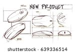 new product design sketch... | Shutterstock . vector #639336514