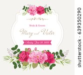 wedding invitation cards with... | Shutterstock .eps vector #639350290