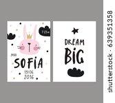 baby shower poster. newborn... | Shutterstock .eps vector #639351358