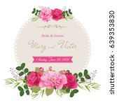 wedding invitation cards with... | Shutterstock .eps vector #639353830