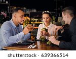 the black american couple and a ... | Shutterstock . vector #639366514