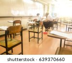 blurry view of study chairs in... | Shutterstock . vector #639370660