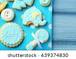 baby cookies decorated with... | Shutterstock . vector #639374830