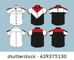 short sleeve shirt 3 | Shutterstock .eps vector #639375130