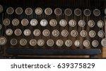 Old Typewriter Keys Rounded...