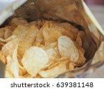 detail of crisps potato chips... | Shutterstock . vector #639381148