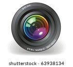 camera objective vector | Shutterstock .eps vector #63938134