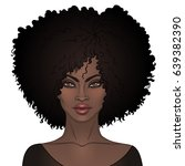 african american pretty girl.... | Shutterstock .eps vector #639382390