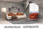 interior living room. 3d... | Shutterstock . vector #639382459