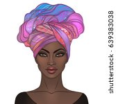african american pretty girl.... | Shutterstock .eps vector #639383038