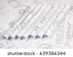 technical engineering drawing ... | Shutterstock . vector #639386344