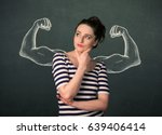 pretty young woman with... | Shutterstock . vector #639406414