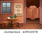 wild west background scene  ... | Shutterstock .eps vector #639410578