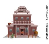 saloon for western town for... | Shutterstock .eps vector #639410584