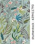 vintage floral seamless pattern | Shutterstock .eps vector #639411793