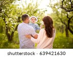 family mom  dad and daughter...   Shutterstock . vector #639421630