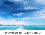 turquoise sea water and air... | Shutterstock . vector #639424810