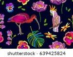 oriental pattern with... | Shutterstock .eps vector #639425824