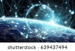 global network and datas... | Shutterstock . vector #639437494