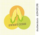 sweet corn cartoon logo on... | Shutterstock .eps vector #639439198