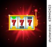 slot machine  icon. vector...   Shutterstock .eps vector #639442423