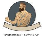 vector vintage fist fighter | Shutterstock .eps vector #639443734