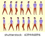 walking man for animation 14... | Shutterstock .eps vector #639446896
