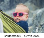 a cool baby is wearing... | Shutterstock . vector #639453028