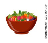 fresh vegetables salad vector... | Shutterstock .eps vector #639454219