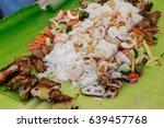 boodle fight  philippine... | Shutterstock . vector #639457768