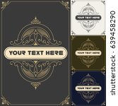 vintage background label style... | Shutterstock .eps vector #639458290